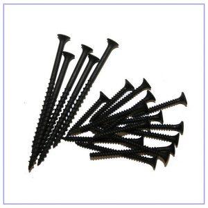 Саморез черный 25 мм для крепления гипсокартона к профилю