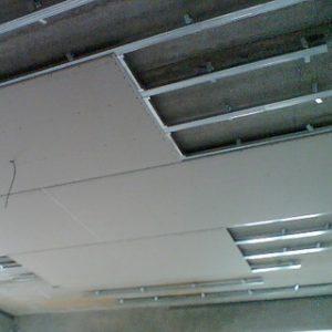 Потолок из гипсокартона в один уровень