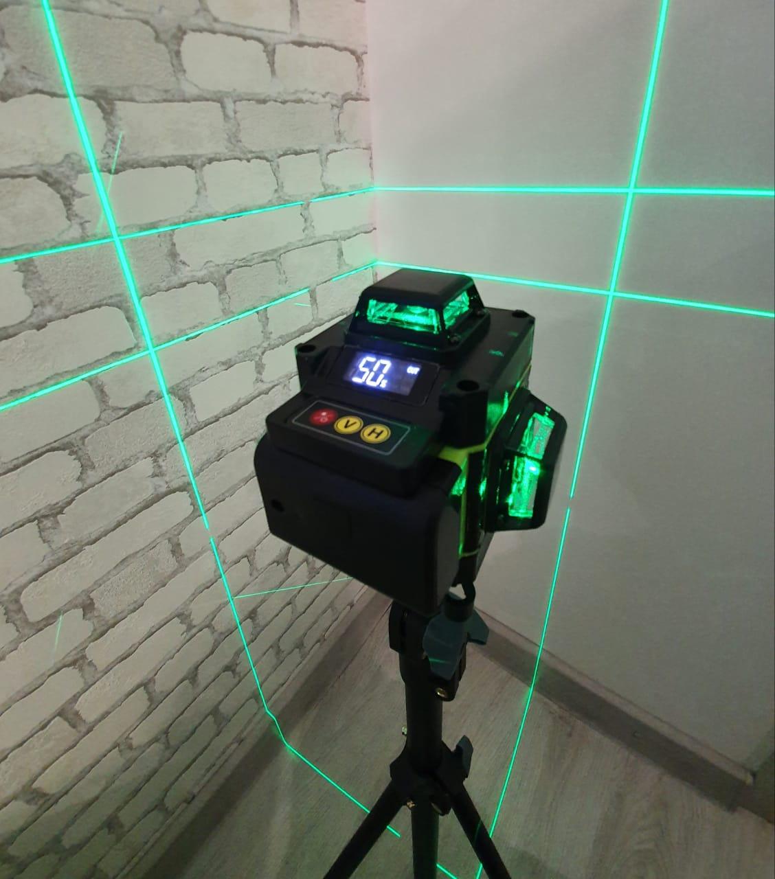 Профессиональный лазерный уровень 4D 16 линий